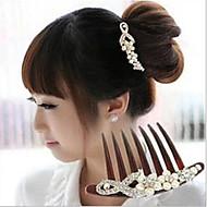 Južna Koreja je kosa češlja nevjesta grožđa dijamant biser umetnut češalj obrat