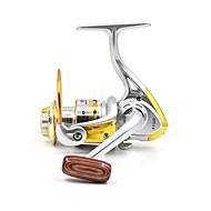 Carrete de la pesca Carretes para pesca spinning 5.2:1 10 Rodamientos de bolas IntercambiablePesca de baitcasting / Pesca en hielo /