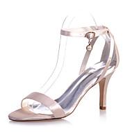 נעלי נשים - סנדלים - סטן - פתוח - שחור / סגול / אדום / שנהב / לבן / כסוף / שמפניה - חתונה / מסיבה וערב - עקב סטילטו