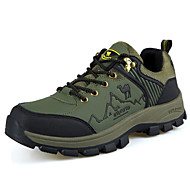 Hiking Men's Shoes Leather Brown/Green/Gray