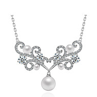 Fashion Style White Cubic Zirconia 925 Sterling Silver Necklace
