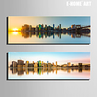 Landschap / Architectuur Canvas Afdrukken Twee panelen Klaar te hangen , Verticaal
