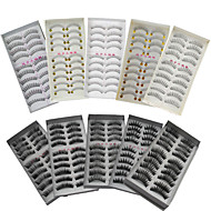 100Pairs Natural Long Thick Black False Eyelash Eyelashes Extensions Handmade Individual Lashes Makeup Eyelashes