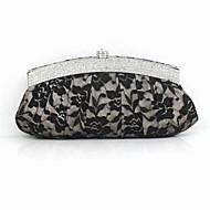 İpek - Gece El Çantaları/El Çantaları/Mini-Çantalar/Cüzdanlar ve Akseasurları ( Siyah/Bej , Süs Pulu/Dantel