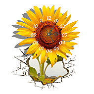 pag®modern дизайн 3d эффект картины подсолнечника часы стикер 14,96 * 18,30 в