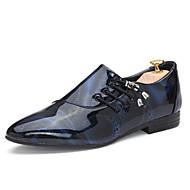 Zapatos de Hombre Oxfords Oficina y Trabajo / Casual / Fiesta y Noche Semicuero Negro / Azul / Marrón / Morado / Blanco