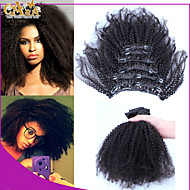"""10""""-26""""Filipino Afro Kinky Curly Virgin Filipino Hair 7pcs African American Clip In Human Real Hair Extensions"""