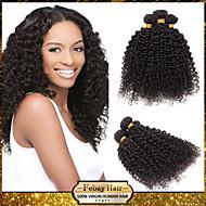 prodotti per i capelli rosa a basso costo 6a non trattati capelli vergini peruviani crespi 1bundle ricci / lotto capelli umani di 100%