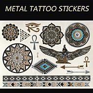 hot egypt style metalíza blesk tatoo dočasné samolepky vodotěsný sexy tetování body art \ totem vs křídla \ falešná tetování