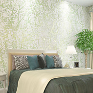 New Rainbow™ Wallpaper 3D Rural Forest Wallpaper Trees/Leaves Wall Covering , Trees/Leaves Non-woven Paper