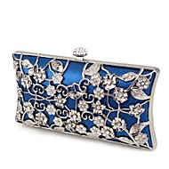 Handbag Silk/Metal Evening Handbags/Clutches With Flower/Metal