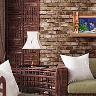 Art Deco / Tégla Wallpaper Otthoni Retro Falburkolat , PVC/Vinil Anyag ragasztószükséglet tapéta , szoba Falburkoló