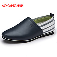 Aokang Men's Shoes Outdoor/Office & Career/Casual Leather Loafers Blue/Yellow