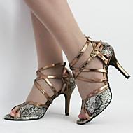 Na zakázku Dámské Taneční boty Latina Koženka Jehlový podpatek Čokoládová