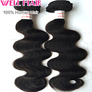 "1Pcs/ Lot 8""-30"" Peruvian  Body Wave Virgin Hair Wefts Natural Black 1B# Human Hair Weave Bundles Tangle Free"