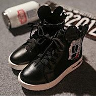 Baby Shoes Outdoor/Casual Faux Leather Fashion Sneakers Black/White