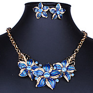 MISSING U Women Vintage / Party Gold Plated / Alloy / Rhinestone / Resin Necklace / Earrings Jewelry Sets
