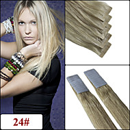 24 # cinta brasileño en 20pieces 20inch pelo / 2.5G set / pc virgen extensiones de cabello humano brasileño