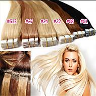 Malaysian Human Hair PU skin weft Tape Hair Extension 50G/Lot