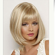 Women Lady Short Synthetic Hair Wigs with Full Bang