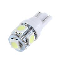 lorcoo ™ 2pcs t10 1.5w 5x5050smd 100-120lm 6000k fredda luce bianca ha condotto la lampadina
