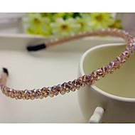 Coréia do Sul importou hairpin cabeça de strass frisado decorações de argola fileira dupla faixa de cabelo de cristal champagne