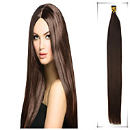Grade 5A 1Pc/Lot 20Inch/50cm Multicolors Straight Fusion /I Tip Hair Extensions Human Hair Weaves 100s/Pack 0.5G/s