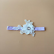 Garter Stretch Satin Flower White/Black/Blue/Purple/Green/Pink/Ivory