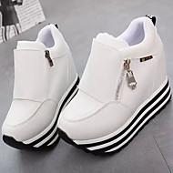 Kényelmes - Parafa - Női cipő - Divatos teniszcipők - Szabadidős / Alkalmi - Vászon - Fekete / Piros / Fehér