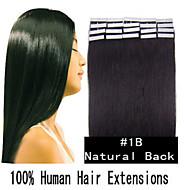 8a pu extensión del pelo trama de la piel 18-30inch cinta india en la extensión del pelo