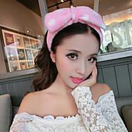 Women's Polyester/Flannelette Headpiece - Casual/Outdoor Dots Bow Headbands 1 Piece