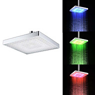 8 Inch A Grade ABS Chrome Finish Square  RGB LED Rain Shower - Silver