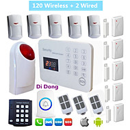 Burglar House GSM Alarm System With Wireless Keypad Strobe siren SMS Android  Alarme Residencial