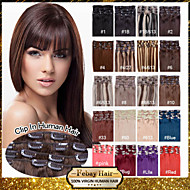 16-22inch 70-80g many colors available clip in remy human hair extensions