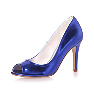 Women's Spring Summer Fall Patent Leather Wedding Casual Party & Evening Stiletto Heel Black Blue Silver Gold