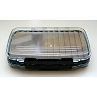 M&X Slotted Foam Portable Waterproof Side Medium Clear Tackle Box Fly Fishing Box Lure Box(18*10*4cm) MF0011