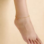 Mode féminine plage danse de yoga simples perles mates de la chaîne de cheville