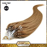 "1PC / 많은 22 ""황금 금발 (# 16) 100S의 50g / 마이크로 루프 레미 인간의 머리 확장을 재고 많은 색상을 포장"