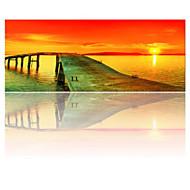 visuaalinen star®sunset merimaisema venytetty kankaalle tulostus modernin seinälle valmis ripustaa