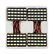 lorcoo ™ 4ks černé 24 vedly panel 5050 SMD dome světlo lampy + T10 Ba9s věncoví adaptér