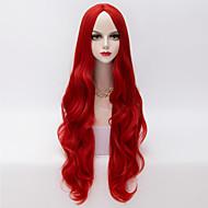 80cm euroopan tyyliin pitkä löysä aaltoilevat u osa hair red lämmönkestävä synteettinen lolita peruukki