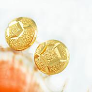 עגילים צמודים לנשים זהב / פליז עגיל לא אבן