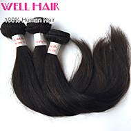 3pcs beaucoup péruvien trames de cheveux droites mélange longueur 8-30 pouces de couleur vierge extensions de cheveux humains # 1b