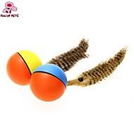 Zabawka dla kota Zabawka dla psa Zabawki dla zwierząt Owalne Zabawka z piórkami Elektroniczny Plastik