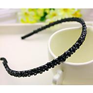 Etelä-Korea tuotu hiusneula rhinestone helmillä pään vanne koristeet kaksirivinen kristalli musta tukka hihnat