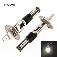 h1 27 4014 smd ledde vit dimma lampa 5W 450 lm (ac / dc12-24v)
