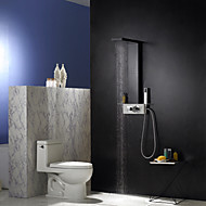 Shower Faucet Contemporary Waterfall/Rain Shower/Sidespray/Handshower Included Aluminum Painting Shower Panel