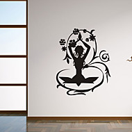 Wall Stickers Wall Decals Style Personality Flower Fairy Maiden PVC Wall Stickers