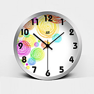 Fashion Painting Super Mute Metallic Wall Clock