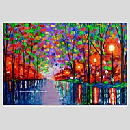 dipinti ad olio paesaggio moderno strada piovosa materiale tela con telaio in legno pronto ad appendere formato: 60 * 90cm.